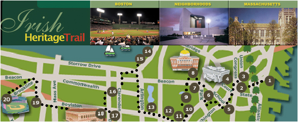 Boston Irish Tourism Association Advertising – Boston City Map Tourist